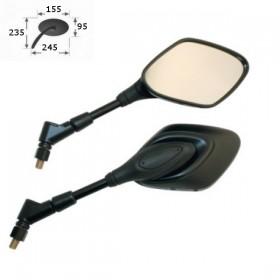 Zrcátka ALPHA, plastová, černá, závit M10 2x pravý, (pár -  2ks)