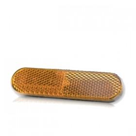 Oranžová odrazka 96 x 24 x 8 mm, uchycení šroubem M5 x 12mm, (1ks)