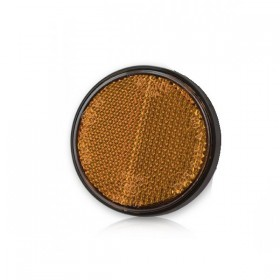 Oranžová odrazka Ø 60 mm, uchycení šroubem M6 x 12 mm, (1ks)