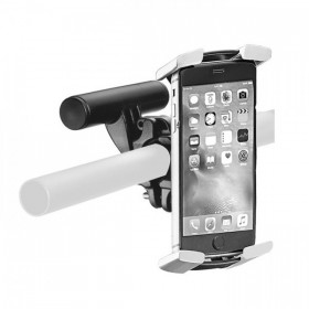 Univerzální držák mobilního telefonu IBERA, montáž na řidítka, nylon / TPE, černošedý