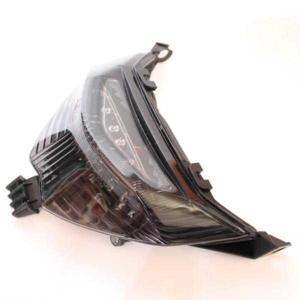 LED zadní světlo Suzuki GSX 650 F, GSF 650 / 1200 / 1250 Bandit, kouřové