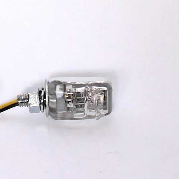 LED osvětlení SPZ, NANO ONE, chrom, čiré (1ks)