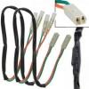 Honda / Kawasaki, kabely s odporem 27 Ohm / 3W a adaptérem pro připojení LED blinkrů, (pár-2ks)