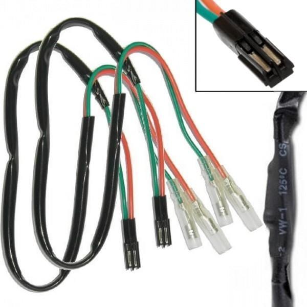 Honda, kabely s odporem 27 Ohm / 3W a adaptérem pro připojení LED blinkrů, (pár-2ks)