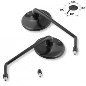Zrcátka HIGHSIDER CLASSIC, hliníková, černá, závit M10 2x pravý + 1x levý, (pár - 2ks)