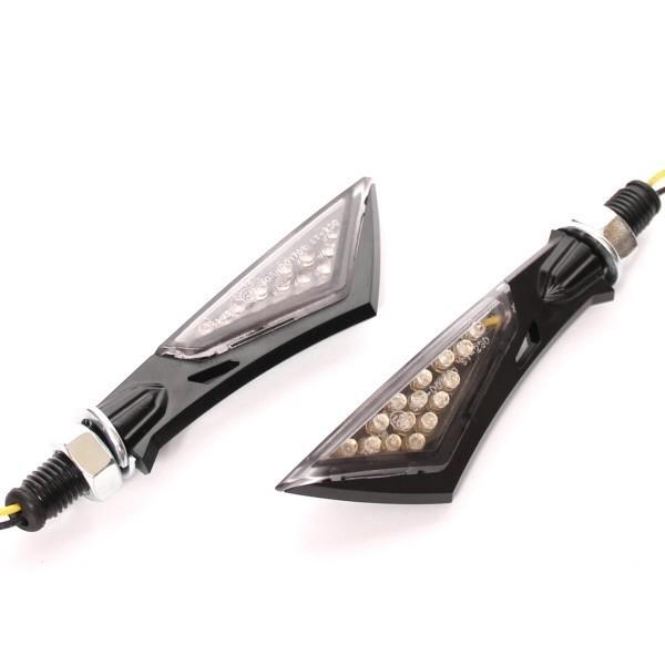 LED blinkry SWORD SMOKE, černé (pár - 2ks)
