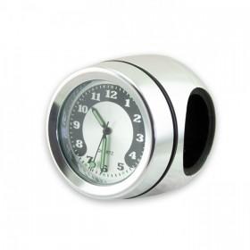"Vodotěsné hodiny Quartz Ø 40 mm na řidítka 7/8"" (22mm) a 1"" (25mm), chromované"