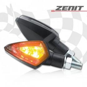 LED blinkry ZENIT SMOKE, černé, se zadním světlem, (pár - 2ks)