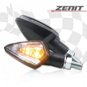LED blinkry ZENIT SMOKE, černé, s parkovacím světlem, (pár - 2ks)