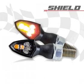 SMD LED blinkry SHIELD SMOKE, černé, se zadním světlem, (pár - 2ks)