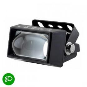 LED přídavné tlumené elipsoidní světlo, 76 x 62 x 44 mm, černé