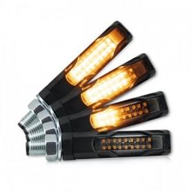 LED blinkry EVO SMOKE, sekvenční, hliníkové, černé (pár - 2ks)