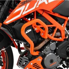 IBEX padací rám KTM 390 Duke (2017-2018), oranžový (pár - 2ks)