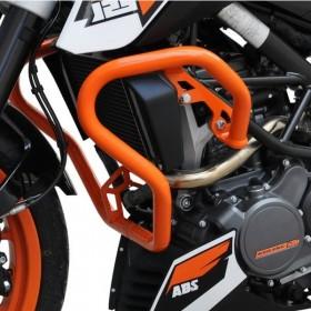 IBEX padací rám KTM 125 / 200 Duke (2011-2016), oranžový (pár - 2ks)