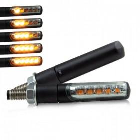 SMD LED blinkry BOLD SMOKE, sekvenční, hliníkové, černé (pár - 2ks)