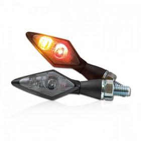 Power-LED blinkry SPARK SMOKE, se zadním světlem, hliníkové, černé, (pár - 2ks)