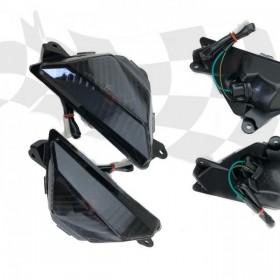 Přední blinkry Kawasaki Ninja 300 / 400 / 650, ZX-6R / 636, ER6F, kouřové, (pár-2ks)