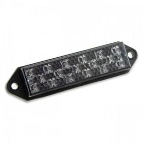 LED zadní světlo SUPERFLAT SMOKE, bez osvětlení SPZ, kouřové