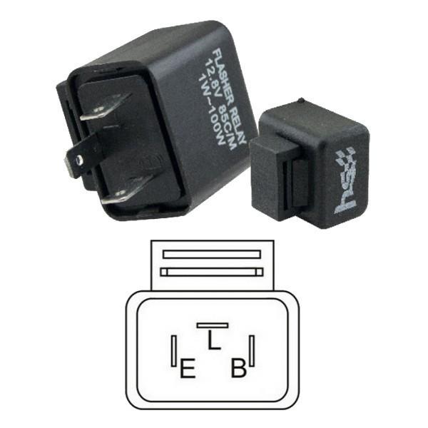 Univerzální přerušovač LED blinkrů, třípólový, 12V / 1-100W