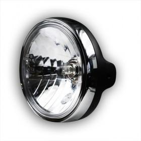 """Přední hlavní světlo LTD STYLE čiré s parkovacím světlem, 7"""", H4, černé"""