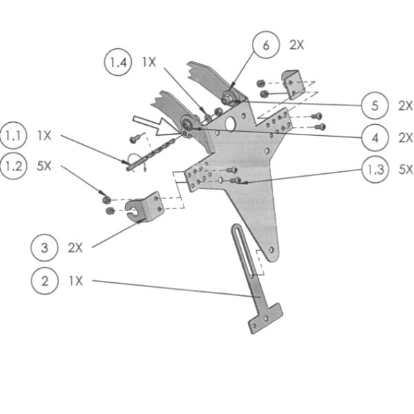 Univerzální držák SPZ typ 5, nastavitelný, černý, s držáky blinkrů a držákem odrazky