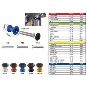 Keiti hliníkové rolny na kyvku, typ B, závit M10x1,25, eloxované různé barvy, (pár-2ks)