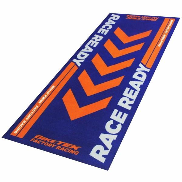 Race ready koberec pod motocykl, 190 x 80 cm, barva modrá