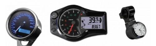 Přístroje, tachometry a hodiny